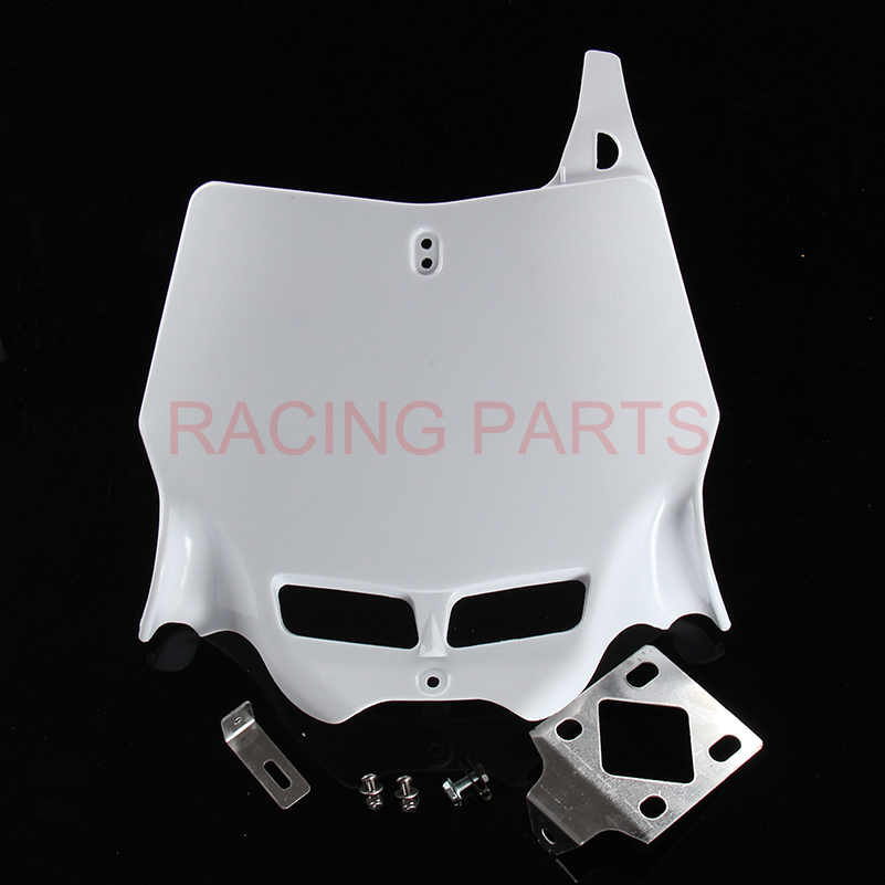 free shipping Universal 250CC 450CC Dirt Pit Bike MX Motocross refitting front Number Plate for Plastic Cover