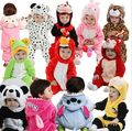 2016 New newborn Romper Baby Clothes Cotton Flannel bebes Rompers Jumpsuit Cartoon Animal Rompers Baby Clothing/costume
