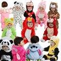 2016 Novo Romper Do Bebê recém-nascido Roupas de Algodão Flanela bebes Macacão Macacão Animal Dos Desenhos Animados Macacão de Bebê Vestuário/costume