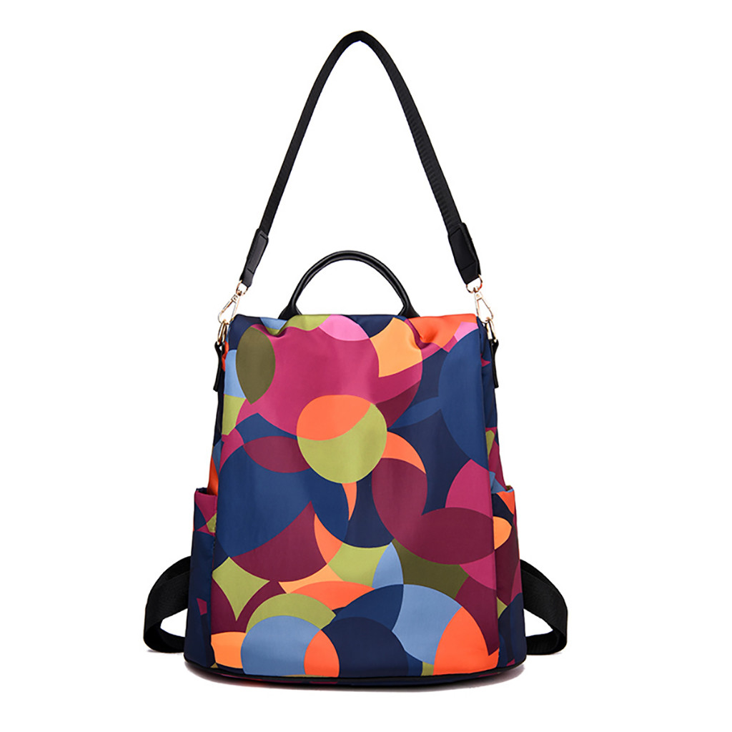 New 2019 Hot Women Wild Travel Backpack Colorful Oxford Cloth Student Bag Backpack Famous Brand PU Leather Bags mochila #MNew 2019 Hot Women Wild Travel Backpack Colorful Oxford Cloth Student Bag Backpack Famous Brand PU Leather Bags mochila #M
