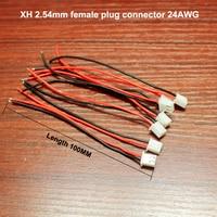 50 unids/lote LED accesorios XH línea Terminal paso 2 54/PH2.0mm 2Pin 2 P línea Terminal 10 cm 24th Cable|Arnés de cables| |  -
