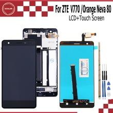 Ocolor ZTE Blade V770 LCD + dokunmatik ekran montaj onarım bölümü aksesuarları ZTE Blade V770 turuncu Neva 80 cep telefonu + araçları