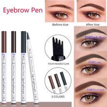 Professional Fork Tip Eyebrow Pen Eyebrow Pencil Waterproof Tattoo Long Lasting Fine Sketch Liquid Eye Brow Pencil