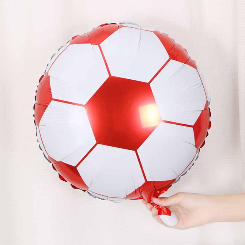 1 pc 4 estilo 18 polegada balão de futebol hélio balões aniversário chuveiro do bebê dia das crianças barra ktv decoração esporte festa suprimentos
