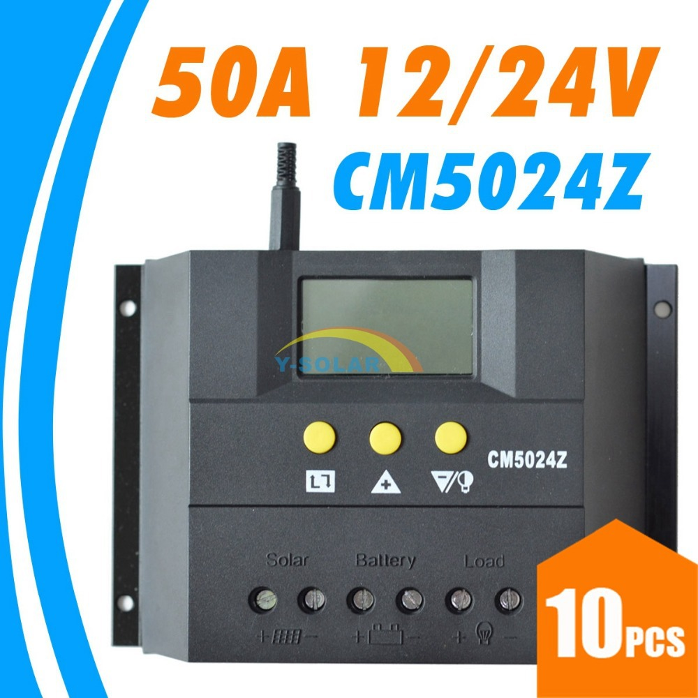 цена на 10PCS LOTS,50A 12V 24V CM5024Z Solar Controller PV panel Battery Charge Controller Solar system Home indoor use New