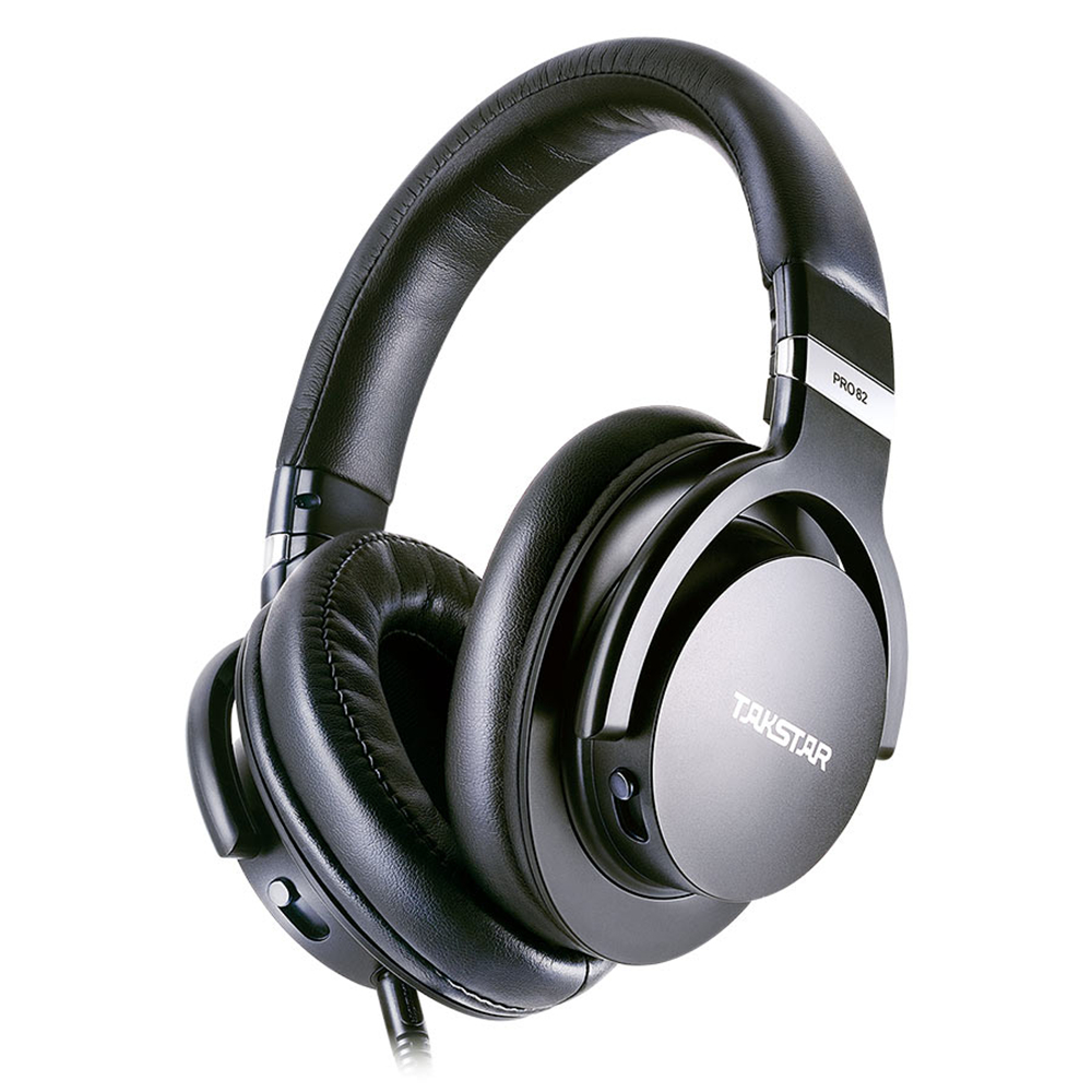 Takstar PRO82 Professional Reference Monitor Headphone Bass Adjustment Dynamic Studio DJ Headset Over Ear Noise Cancelling