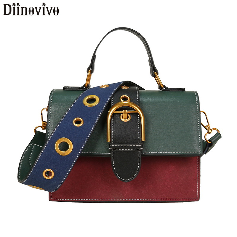 DIINOVIVO Bags for Women 2018 Fashion New Quality PU Leather Portable Shoulder Messenger Bag Travel Tote Crossbody Bag WHDV0849 Сумка