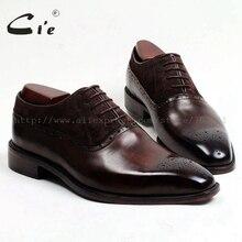 CIE, проклееные, верх из телячьей кожи внутренняя подошва Мужские модельные туфли-оксфорды коричневого цвета с замшевая кожаная обувь OX207