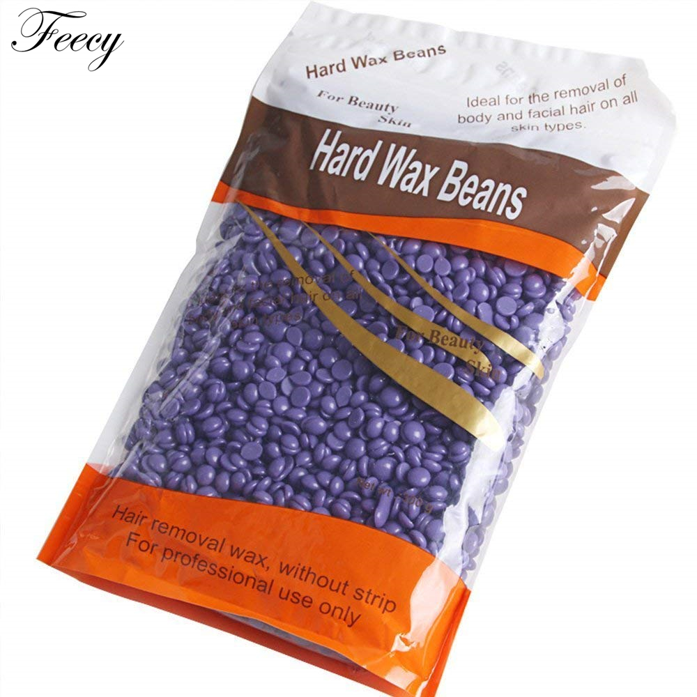 Depilatory Hot Film Hard Wax Bean For Waxing No Strip Needed For Body Bikini Face Hair Removal 300g  Hard Wax Beans