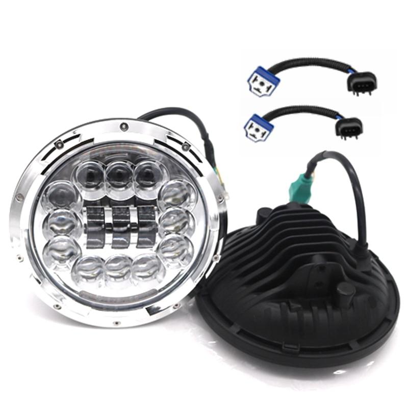 2Pcs 7 LED Headlight with White DRL $ Amber Turn Signal Light H4 For Jeep 97-16 Wrangler JK LJ TJ Harley-Davidson Motorcycle 1 pair 60w 7 inch round led headlight with white amber turn signal drl for jeep wrangler jk tj harley davidson