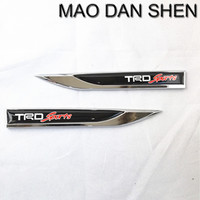 New TRD Sports Knife Type Emblem Badge Decal Metal Racing Car Sticker Fit For Camry Corolla