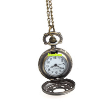 bowaiwen #0034 Retro Leaves Vintage Style Pocket Chain Necklace Watch Christmas Gift