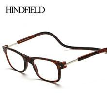Leitor de Óculos de Leitura de Moda Pendurar Dobrável HINDFIELD prescrição  óculos de armação + 100 9c1162c61d