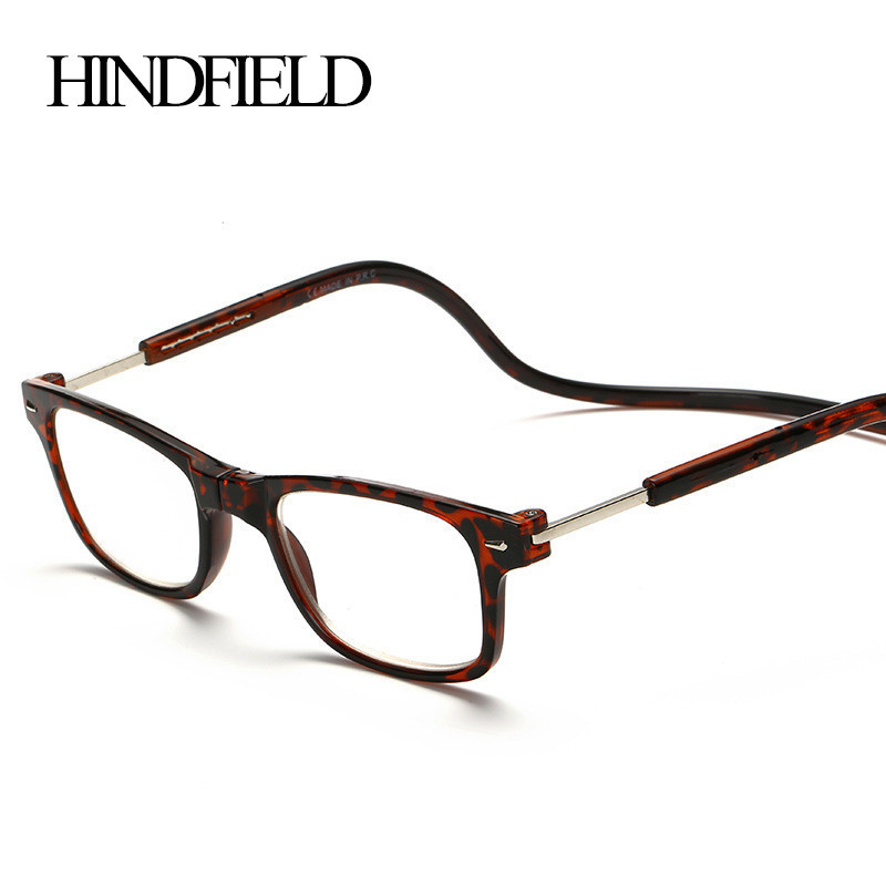 HINDFIELD Fashion Reading Glasses Hang Folding Reader prescription glasses frame +100,+200,+300,+400 Simple and easy to carry