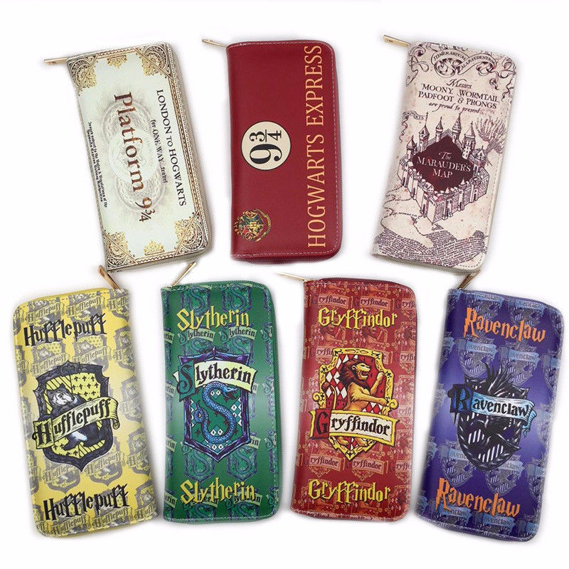 New Harry Potter Wallets men pruse male clutch zipper around wallets men women money bag pocket Card Holder mltifunction Cosplay