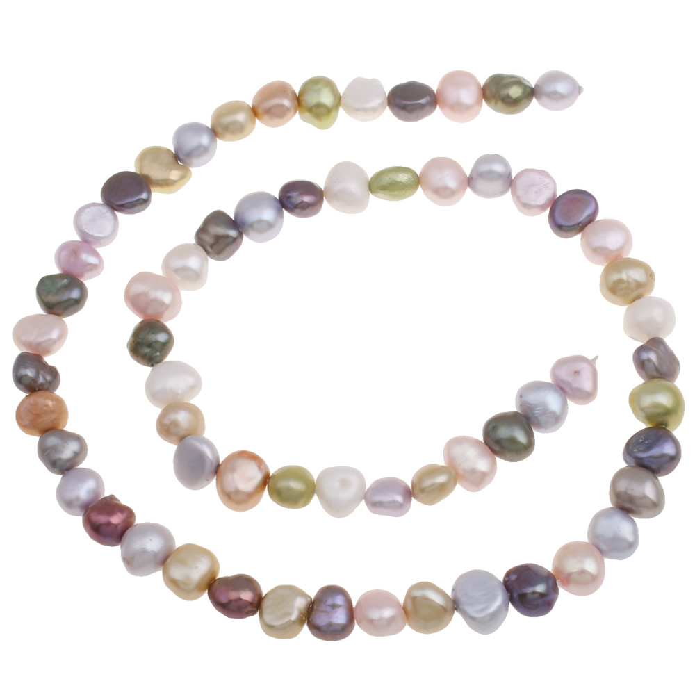 YYW Baroque Cultured Freshwater Pearl Beads Jewelry mixed color 6-7mm Real Natural Loose Pearl Beads DIY Making for Necklace