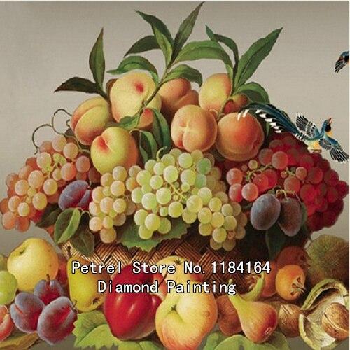 Виноград и персики вышивка