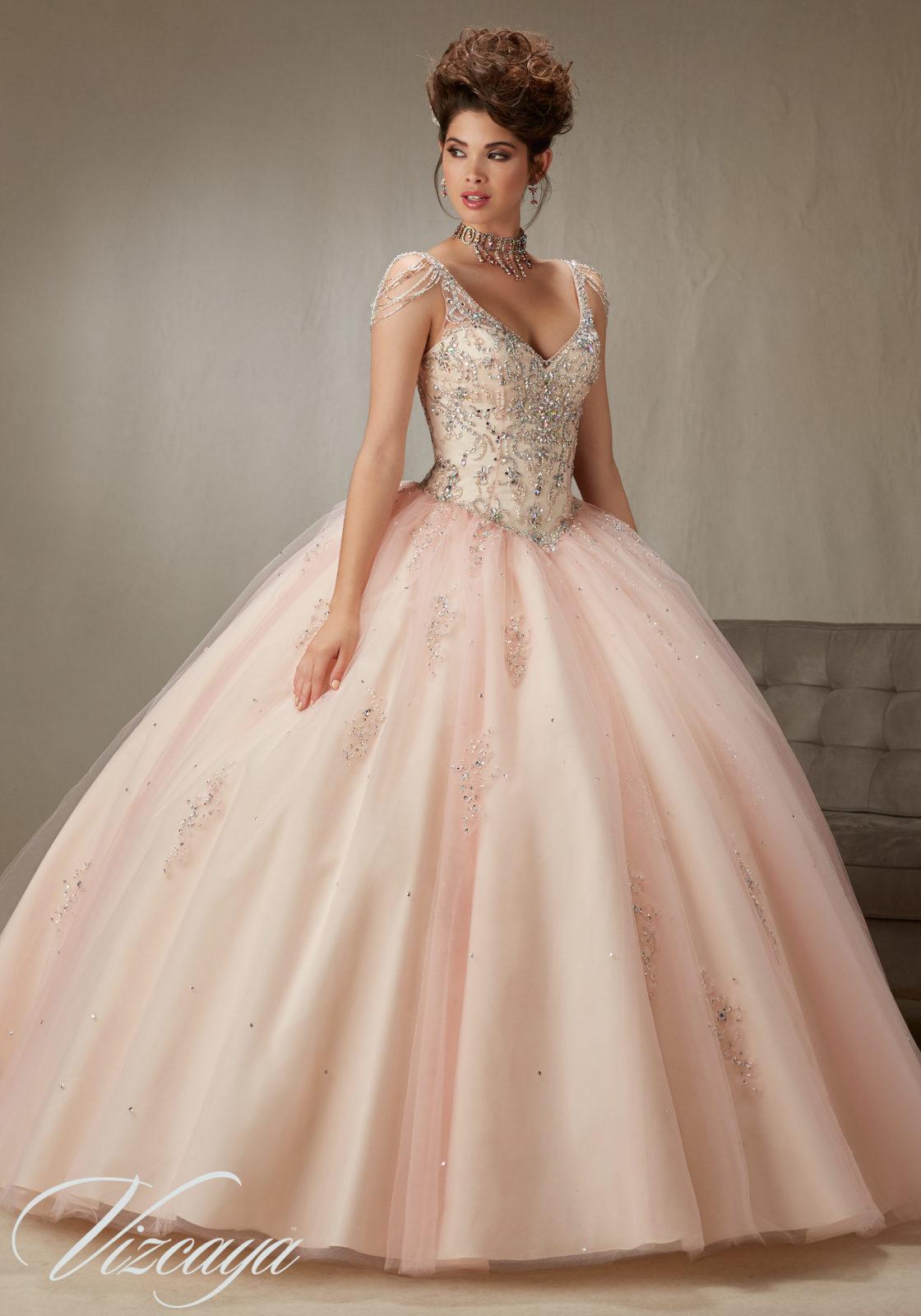 Quinceanera dresses 2018 pink  Pink Gold Dress