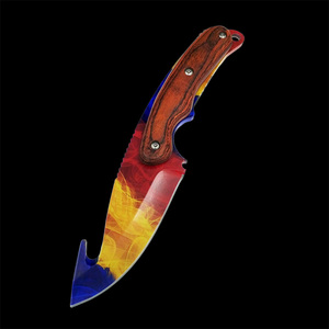 Image 4 - Real Tiger Tooth knife CS GO Gut Knifes Counter Strike Tactical Straight Hunting Knives Camping sheath survival colored knife