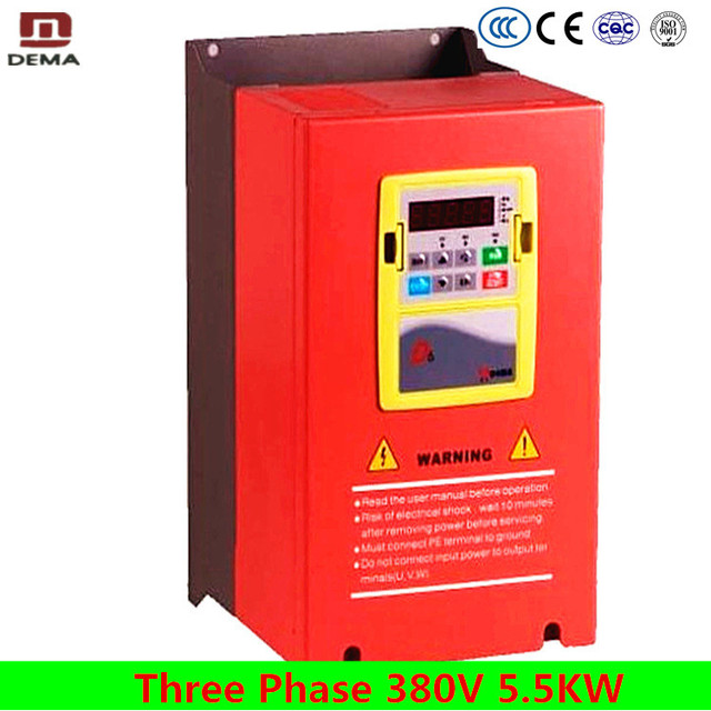 US $289 0 15% OFF|DEMA D6B Series AC Drive Vector Control 380V 3 Phase  5 5kw Solar Pump Micro Variable Frequency Inverter For AC Induction  Motor-in