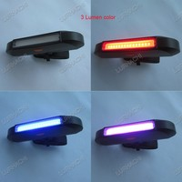 High Quality Newest White Yellow COB LED Headlight USB Charger Handlebar Mount Bicycle Light
