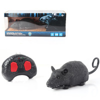 Electronic pet Remote Control RC simulation light flash Mouse toy model Tricky prank Scary robotic insect animal Toy kids gift