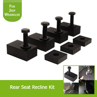 1Set Interior Accessories Rear Seat Recline Kit With Bolts And Washers Black Aluminum For Jeep Wrangler