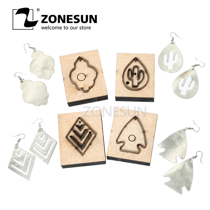 ZONESUN Fish DIY Cutter Leather Earring Cutting Die Cactus Leather Decoration Earring Template For Die Cutting Machine ClickerZONESUN Fish DIY Cutter Leather Earring Cutting Die Cactus Leather Decoration Earring Template For Die Cutting Machine Clicker