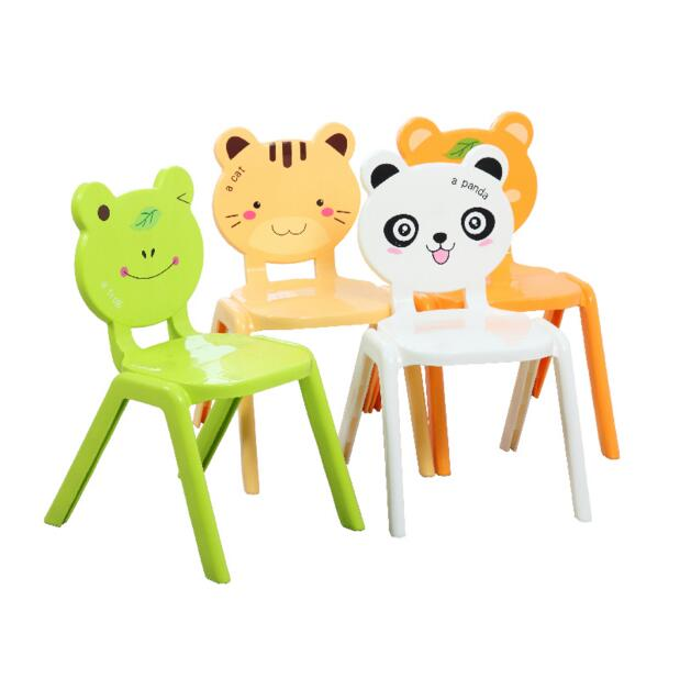 Thickened plastic animal chair baby safety stool