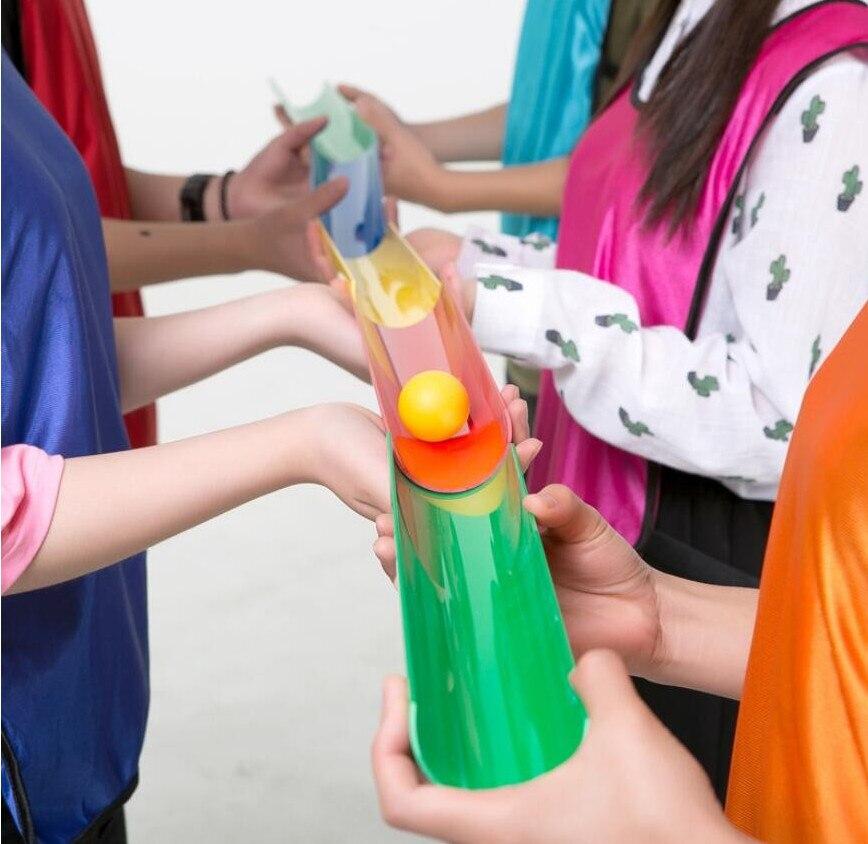 Забавные мини-Баланс шары игрушки для детей открытый и закрытый игры Пластиковые U-Groove Track передачи