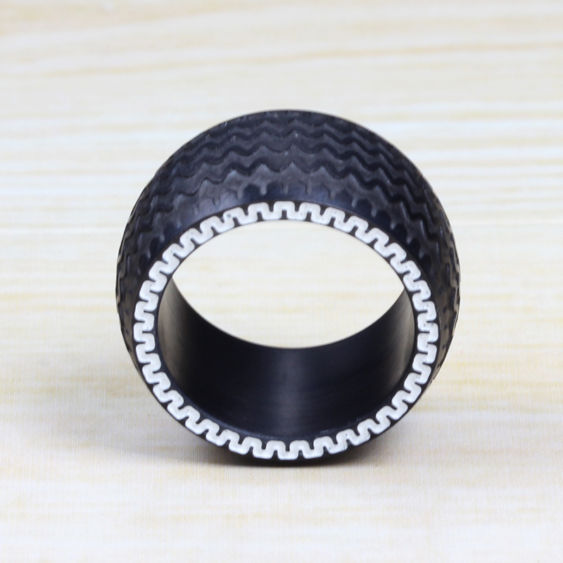 black mens ring tyre design punk biker wedding anel titanium steel finger ring metal not rubber in rings from jewelry accessories on aliexpresscom - Biker Wedding Rings