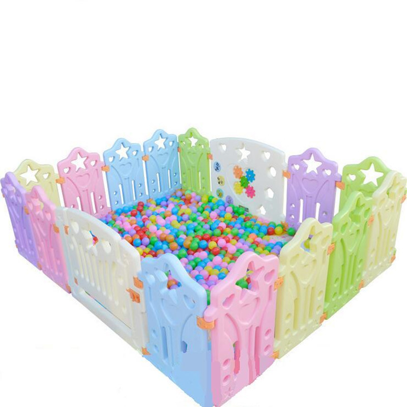 Environmentally Friendly Plastic Cartoon Baby Playpen Baby