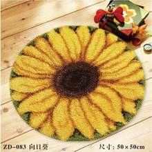 sunflower Latch hook rug kits crochet hooks knitting needles Felt Craft sets for embroidery stitch thread Cross-stitch Carpet(China)