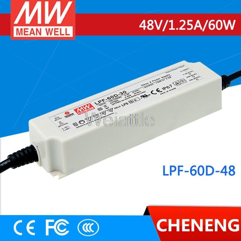 Moyenne bien original LPF-60D-48 48 V 1.25A meanwell LPF-60D 48 V 60 W unique sortie commutateur de courant LED