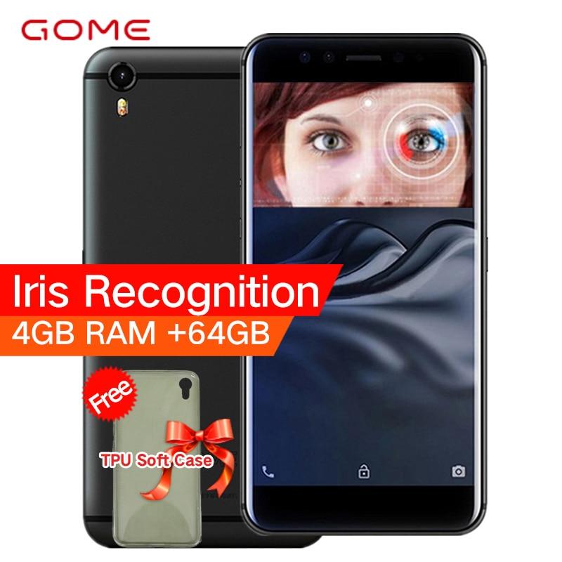 Original GOME K1 4G LTE Smartphone 4G RAM 64g/128g ROM 5,2 pulgadas 1080 p MTK6757 2,3 GHz Octa Core Android 6,0 teléfono móvil