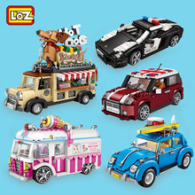 LOZ City Building Blocks Juguetes Ice Cream Van Hot dog Car Bricks Kids Birthday Gifts Mini Toys for Boys Girls