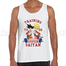 The Dragon Ball Z Men tank tops sleeveless casual  vest Son Goku to go Bodybuilding shirt super saiyan singlets