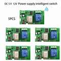 5 pcs DC 5 V 32 V WiFi Smart Switch diy Relais Module Smart Home via ios Android phone remote automatisering Modules