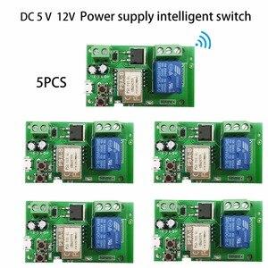 5pcs DC 5V 32V WiFi Smart Swit