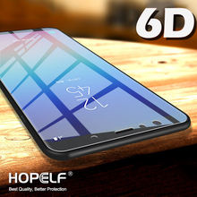 Szkło hartowane 6D do Samsung Galaxy A7 2018 A9 ochraniacz ekranu na szybie ochronnej do Samsung A8 J6 A6 J4 Plus J8 2018 tanie tanio Telefon komórkowy Ultra-cienki Łatwy w Instalacji Odporne na zarysowania MRELF Przedni Film Glass for Samsung Galaxy J4 J6 A6 A8 Plus J8 A7 A9 2018 Glass