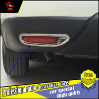 3 PCS ABS Chrome Rear Fog Light Lamp Cover Trim for 2014 2015 Nissan X-Trail X Trail XTrail Tail Fog Light Cover Car Styling