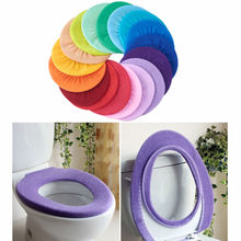 Bathroom Toilet Seat Cover Closestool Washable Soft Warmer Mat Pad Cushion Toilet Seat Cover Random Color Bathroom Accessories(China)