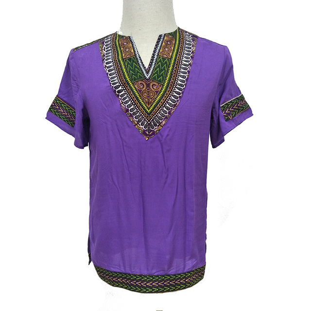 African Tradition Clothes Men's African Print Shirt Dashiki Fashion T-Shirt Tops 4