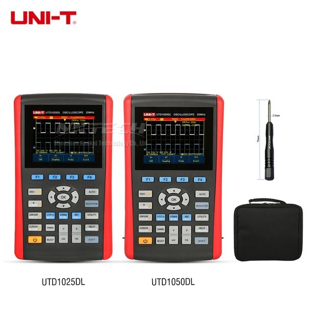 Special Offers UNI-T UTD1050DL UTD1025DL Handheld Digital Oscilloscope Scopemeter Multimeter Scope Meter TFT 2-Channel 250MS/s 12kpts 50MHz