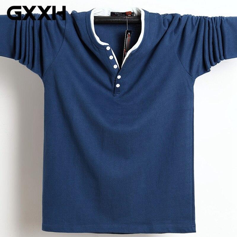Новые мужские футболки с длинным рукавом размера плюс 4XL 5XL 6XL на осень и зиму 2020, однотонная хлопковая Футболка большого размера