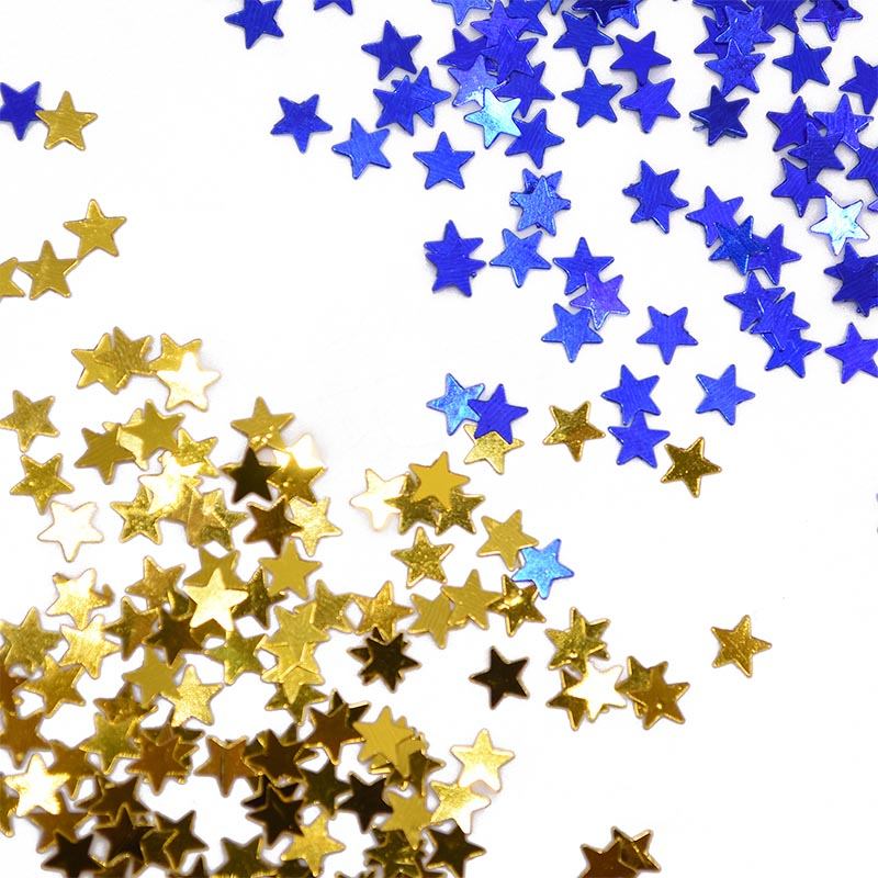 Fashion Sequins Five-pointed Star Glitter Theme Party Banner Flag Party Supply S