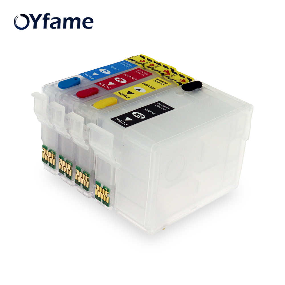 Oyfame untuk Epson 252XL 252 T2521 T252 T2521XL Isi Ulang Cartridge untuk Epson WF-3620 WF-3640 WF-7110 WF-7610 WF-7620 WF-7110 WF-5190