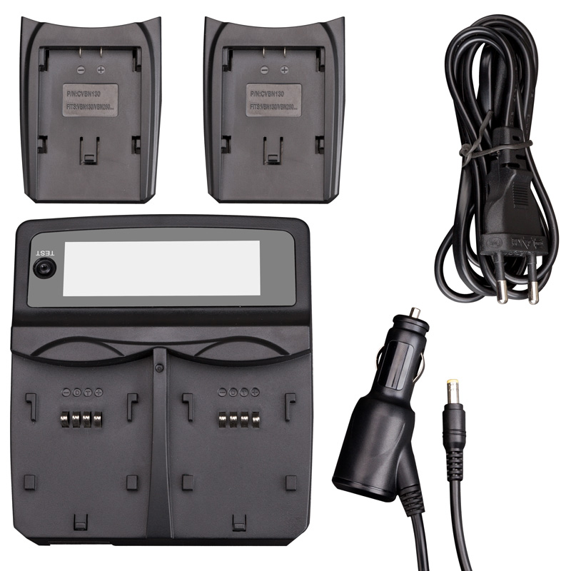 Udoli NP-FW50 NPFW50 NP FW50 Batterie Voiture Chargeur Double avec Port USB Pour Sony NEX-7 NEX-C3 NEX-5N NEX-3 NEX-5 NEX-F3 A37 A55 A33 - 2