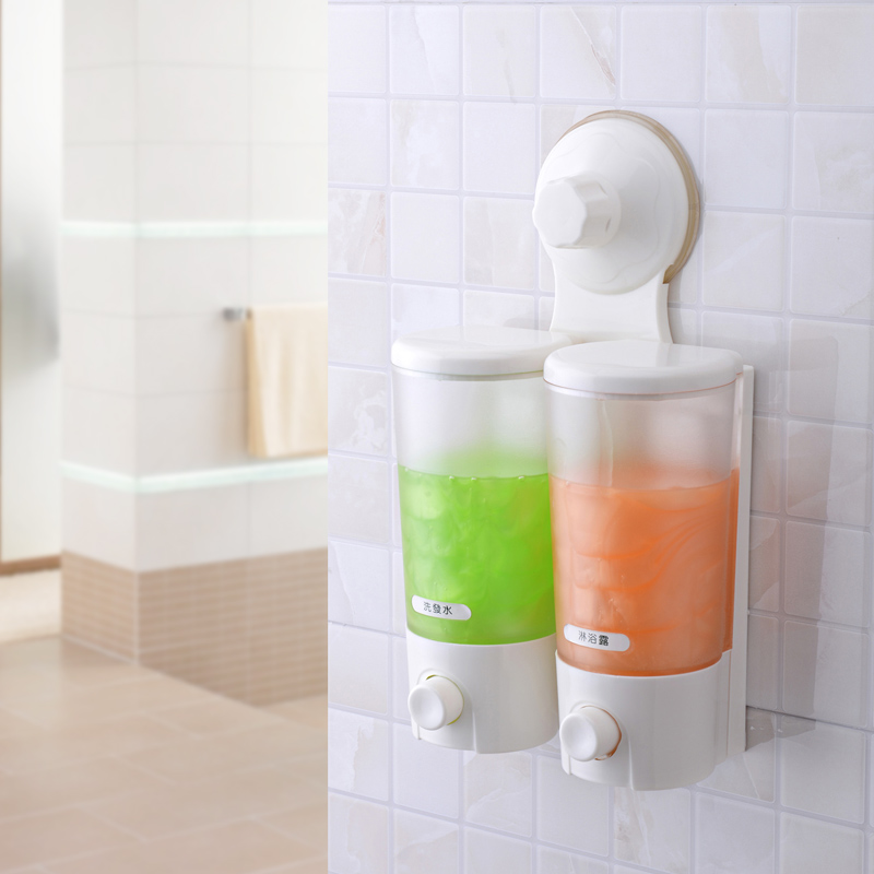 bathroom soap dispensers bath accessories. Double Liquid Soap Dispenser Bathroom Accessories Strong Suction Cup  Hand Sanitizer Bath Slider in Dispensers from