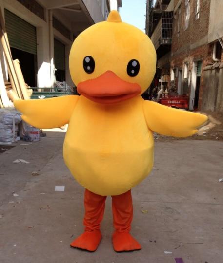 Yellow Duck Mascot Costume Cartoon Apparel Cosplay Custom  Adult Duck Mascot  Dress Amusement Park Outfit Free Shipping